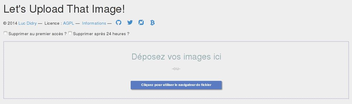 Capture d'écran de l'interface de LUTIm