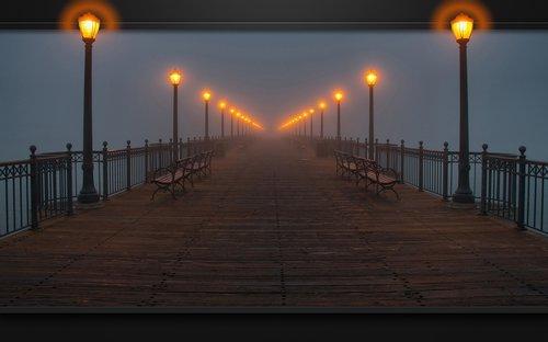 pont brouillard