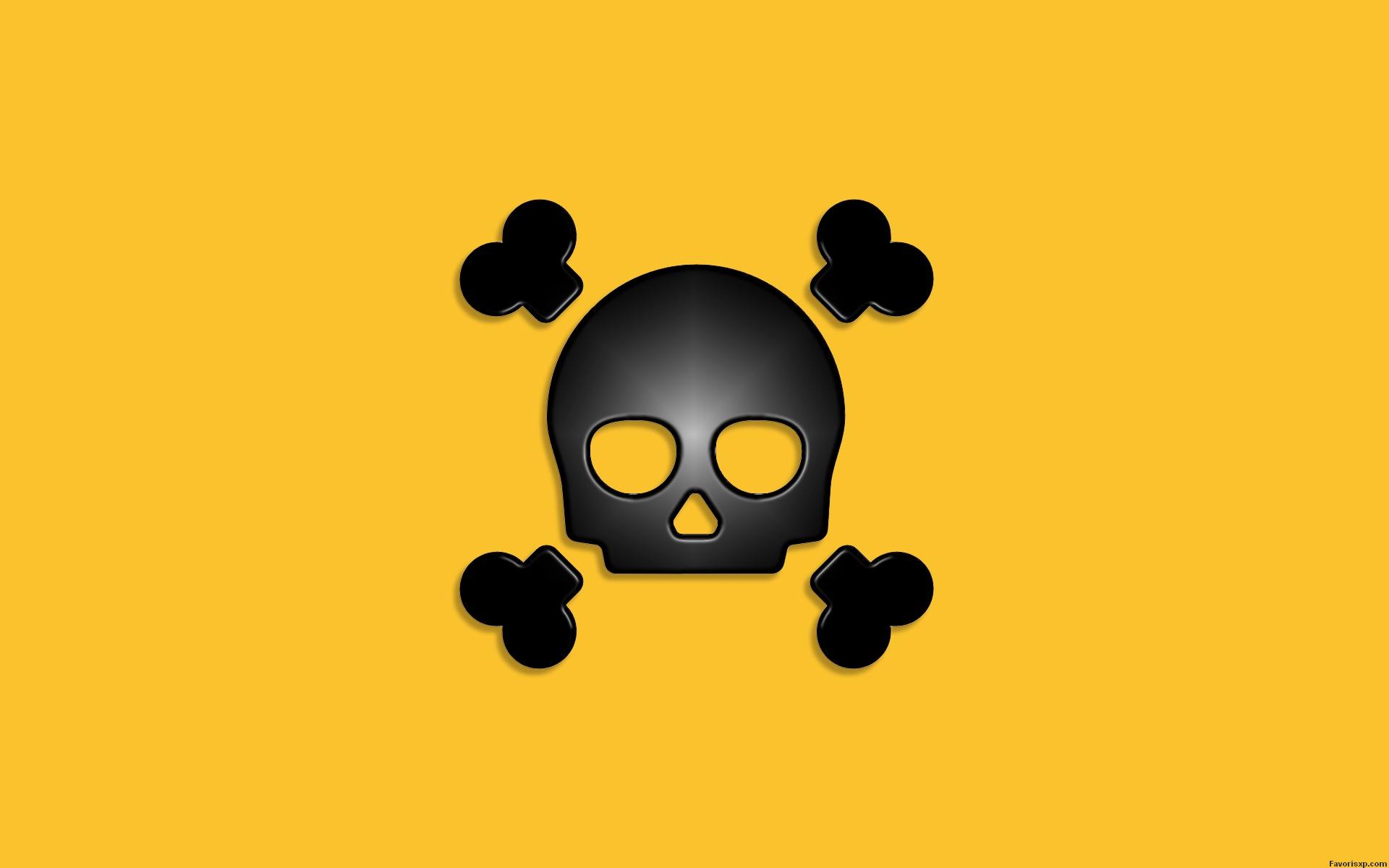 Fond d'écran en noir et jaune.