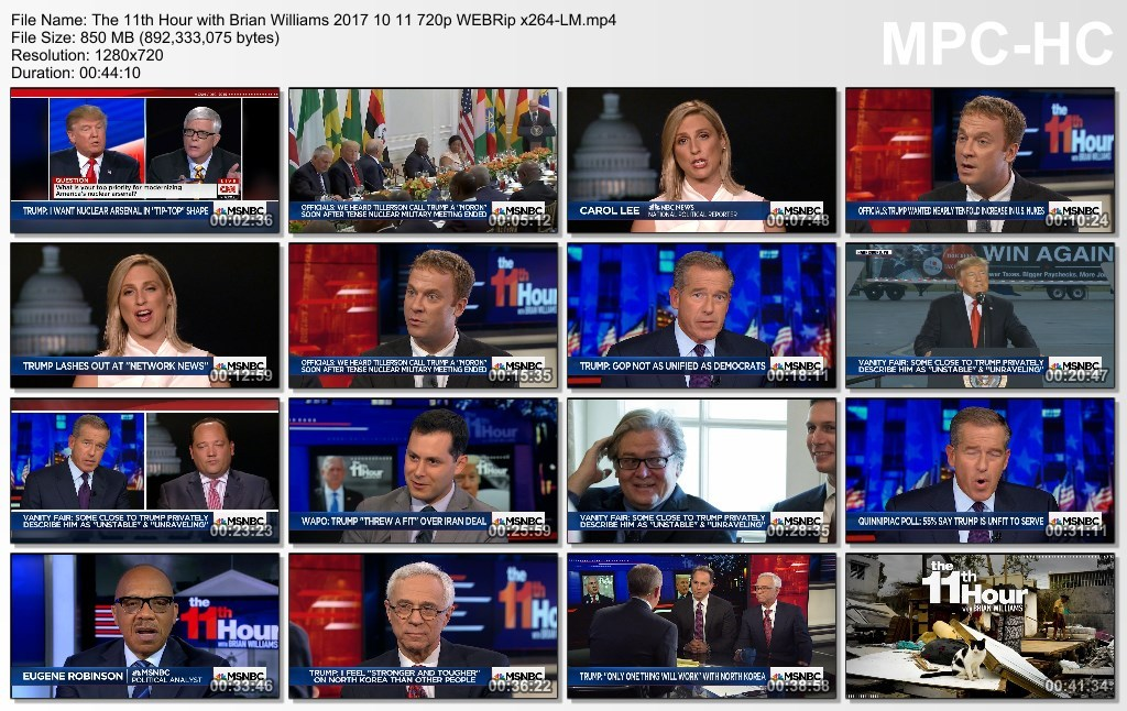 The 11th Hour with Brian Williams 2017 10 11 720p WEBRip x264-LM