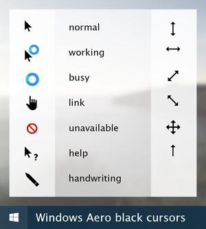 Curseur de souris t l charger pour windows pointer - Performances du bureau pour windows aero ...