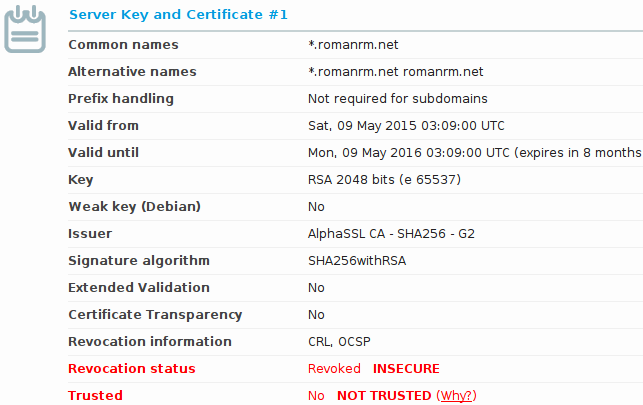 AlphaSSL certificates bought from hostmybytes revoked — LowEndTalk