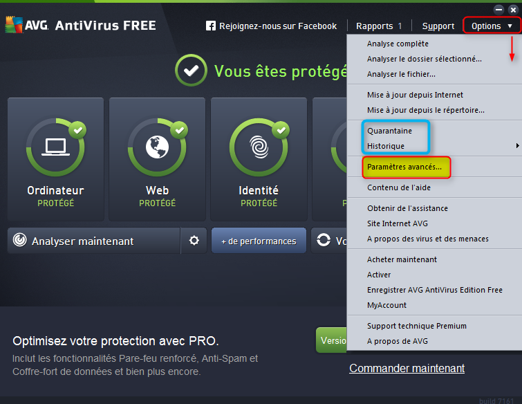 AVG antivirus Free J07G89XM