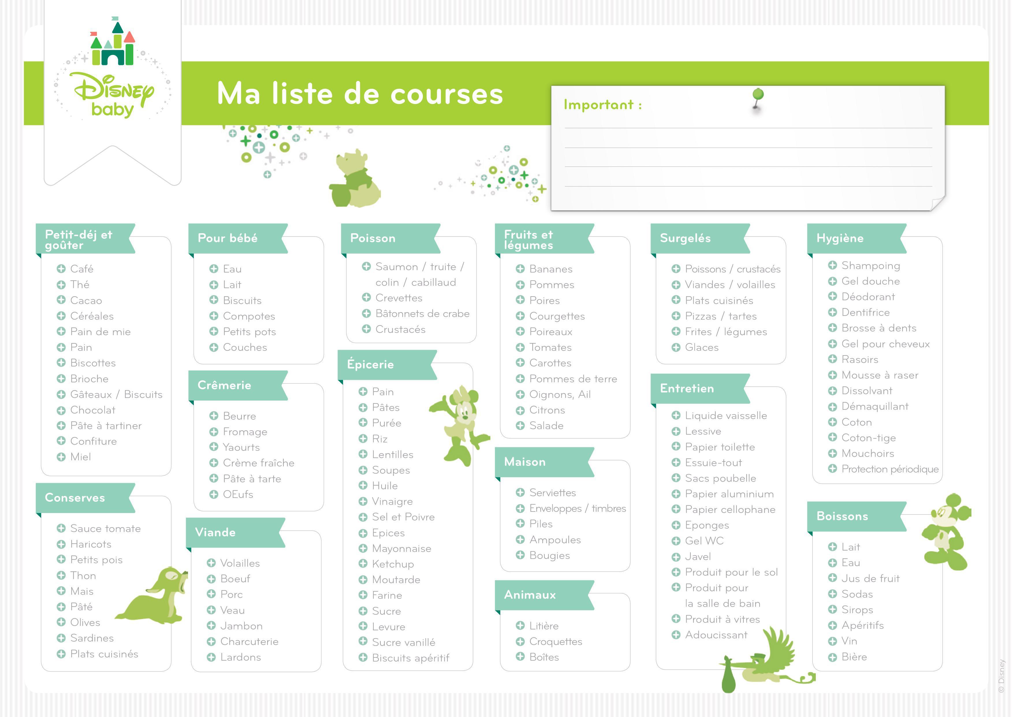 Fabuleux Les 12 Listes de courses prêtes à imprimer - modèles PDF et Excel. EV35