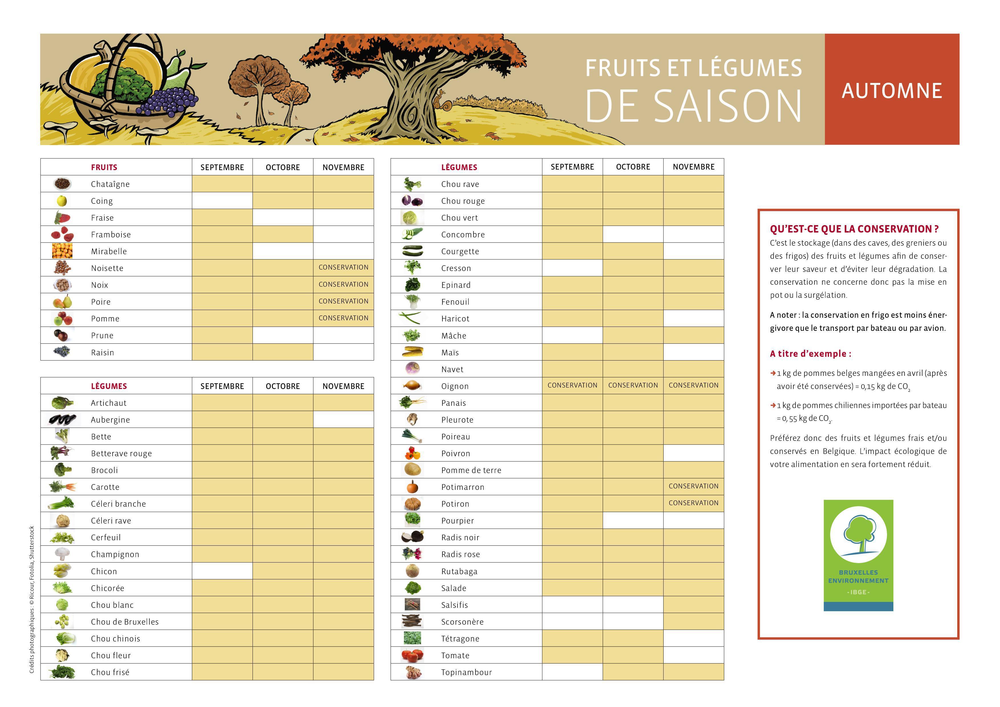 Les fruits et l gumes de saison calendrier pdf par - Calendrier fruits et legumes de saison ...