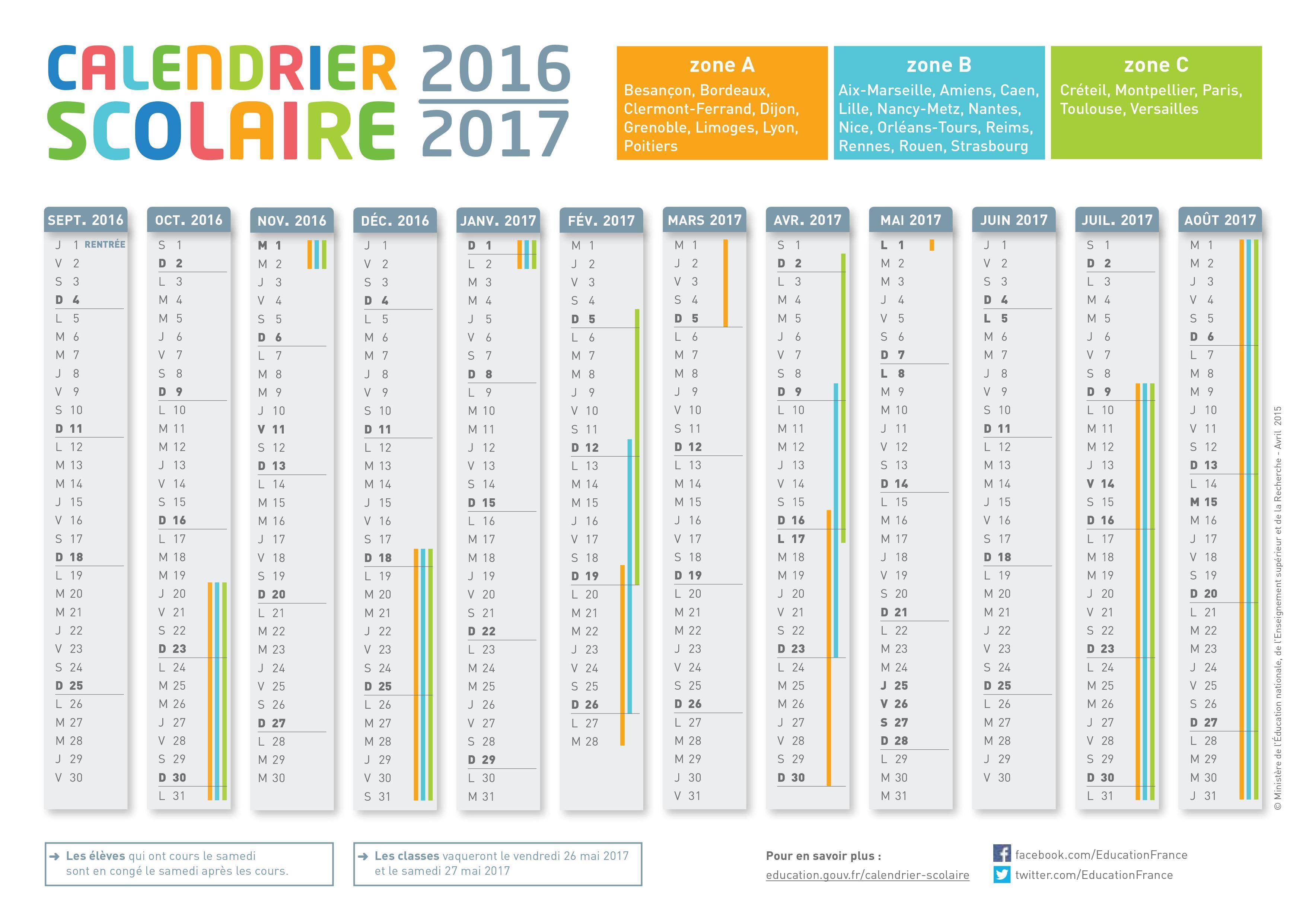 calendrier scolaire de la reunion
