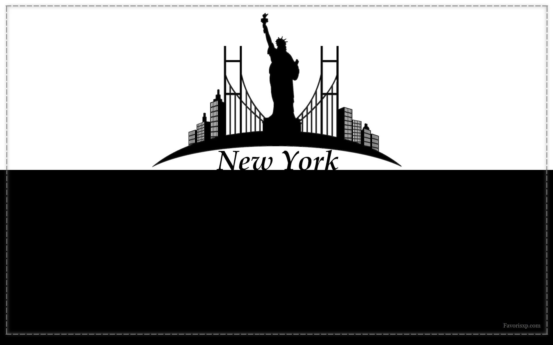 Fond d'écran de ville en noir et blanc.